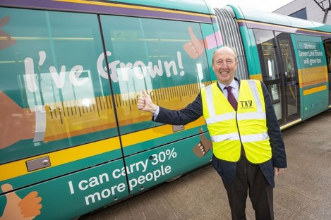 Transport Minister Shane Ross at today's launch.
