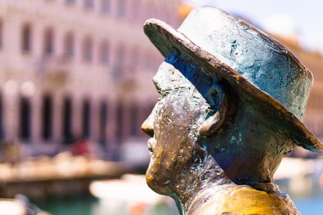 Statue of James Joyce in Trieste, Italy where he lived for a period.