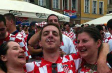 Uh oh, the Eamon Keegan photo has been discovered - by one of the Croatian ladies' employers