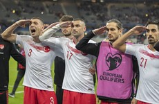 Turkey defends footballers over controversial goal celebration