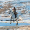 North Korean media releases images of Kim on white horse up sacred mountain