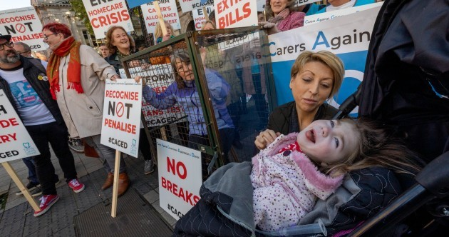 'I'm on call 24 hours-a-day, seven days-a-week': Family carers stage protest outside the Dáil