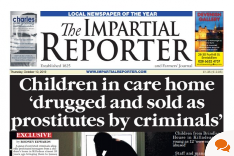 The newspaper's front page on 9 October.