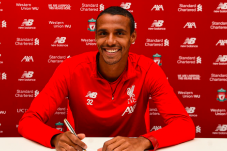 Matip pictured at Melwood on Friday afternoon.