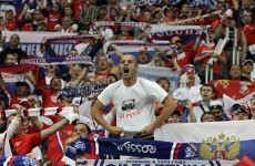 Euro 2012: Russia hit with fine, suspended points deduction for fan behaviour