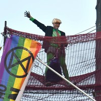 Extinction Rebellion activist in custody after climbing London's Big Ben