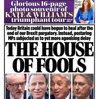 'House of fools': UK front pages react to Boris Johnson's Brexit defeat