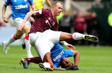 Rangers waste opportunity to go top as they're held by Hearts at Tynecastle