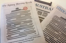 Australian newspapers black out front pages to protest government secrecy