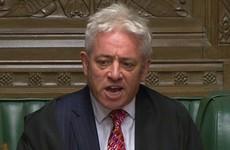 House Speaker John Bercow says a vote on Boris Johnson's deal can't go ahead
