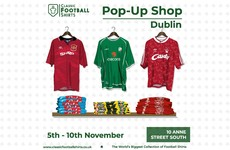 Classic Football Shirts opening Dublin pop-up shop