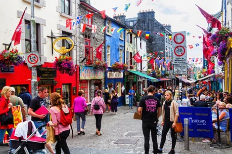 Quay Street in Galway city.