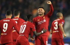 Oxlade-Chamberlain on the double as Liverpool ease past Genk