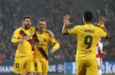 Messi creates history with goal that helps Barcelona edge Slavia Prague