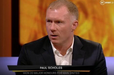 Scholes was speaking on BT Sport on Thursday.