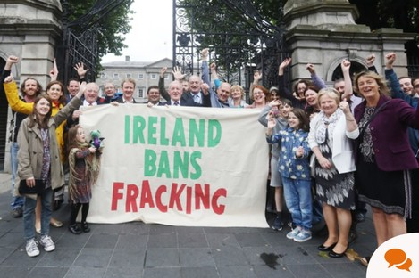 Group welcomes ban on onshore hydraulic fracking in 2017.