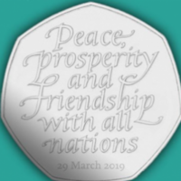 Britain has halted production of the commemorative 50p Brexit coins
