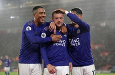 Leicester equal Man United's Premier League record and go second