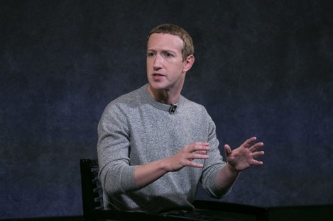 """Mark Zuckerberg speaks about """"News Tab"""" at a launch event in New York yesterday"""