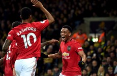 Man United cruise to victory at Carrow Road despite two missed penalties