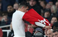 Xhaka tells Arsenal fans to 'f**k off' after being substituted as he storms off pitch