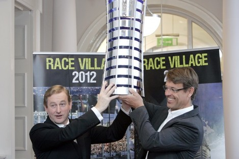 Taoiseach Enda Kenny with Knut Frostad, chief executive of the Volvo Ocean Race, pictured at the launch