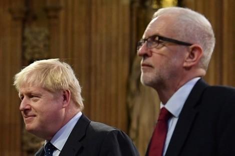 UK Prime Minister Boris Johnson and Labour leader Jeremy Corbyn.