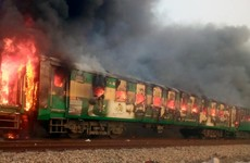 At least 74 people killed after gas cylinders exploded on train in Pakistan