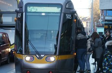 Broken down coach blocks Luas and traffic in Dublin city centre