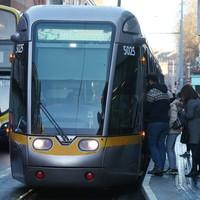 Broken down coach blocks Luas and traffic in Dublin city centre