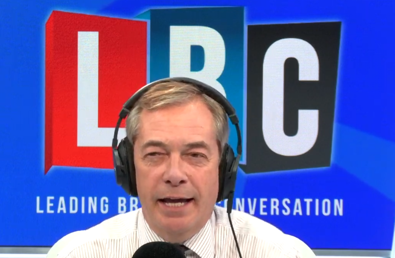 Donald Trump goes on Nigel Farage's radio show and says