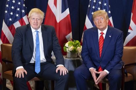 British Prime Minister Boris Johnson and US President Donald Trump