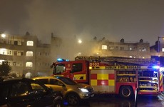 Fire fighters attacked with rocks while tackling blaze in Dublin city centre