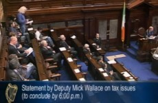 Video: Mick Wallace's statement to the Dáil