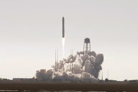 Northrop Grumman's Antares rocket lift off the launch pad at NASA Wallops Flight facility in Wallops Island, Virginia.