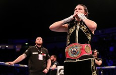 Taylor outclasses teak-tough Linardatou to become two-weight world champion