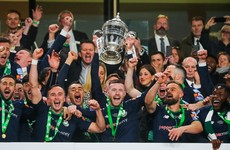 Shamrock Rovers beat Dundalk on penalties to end 32-year wait for FAI Cup glory