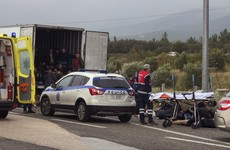 41 migrants found alive in refrigerated truck in Greece