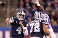 Prescott shines as Cowboys claims sixth straight win over struggling Giants