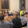 Protesters confront councillors after vote on O'Devaney Gardens redevelopment