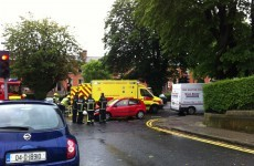 Two hospitalised after Dublin crash