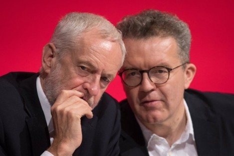 Tom Watson has clashed repeatedly with Labour leader Jeremy Corbyn (left).
