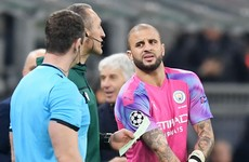 Walker plays as emergency goalkeeper after Ederson injury and Bravo red in frantic Atalanta draw