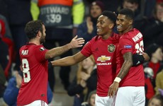 Man United's front three find the target as they cruise into next round