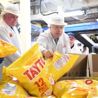 'There will not be checks': Boris Johnson hails 'great Northern Ireland deal' at Tayto Castle Factory