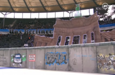 Hertha Berlin put on incredible tifo to mark 30th anniversary of Berlin Wall's collapse
