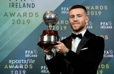 Shamrock Rovers star Jack Byrne named Player of the Year at PFAI Awards