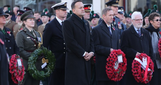 President Higgins and Taoiseach Leo Varadkar attend Remembrance Sunday ceremonies