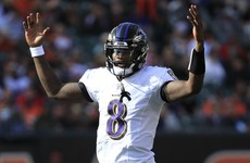 Lamar Jackson perfect as Ravens rout Bengals