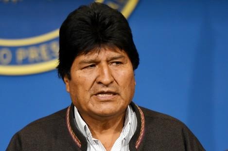 Former Bolivian president Evo Morales